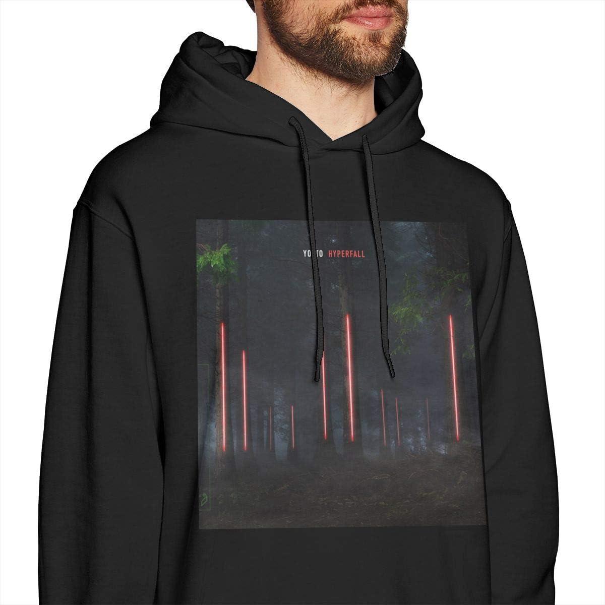 Mens Hoodie Sweatshirt Yo T to Sweater Black