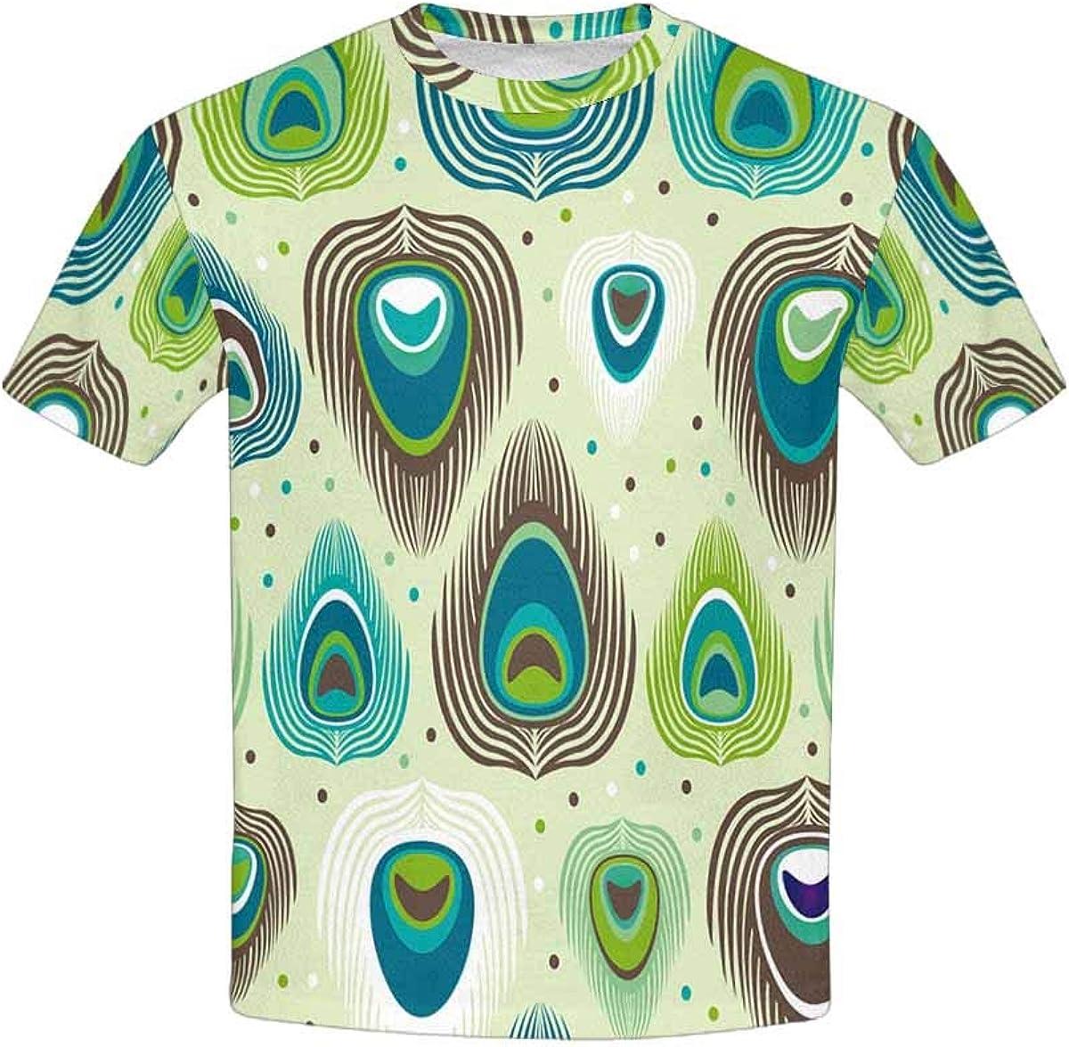 INTERESTPRINT Kids T-Shirts Cool Dinosaur XS-XL