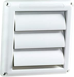 Plastic Louver Vent 6 Inches Hood Dryer Vent Cover Outdoor Stops Birds Nesting In Dryer Vents