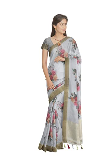 e91fddfc6b South India SHOPPING MALL Women Light Blue Organza Saree (Free Size):  Amazon.in: Clothing & Accessories