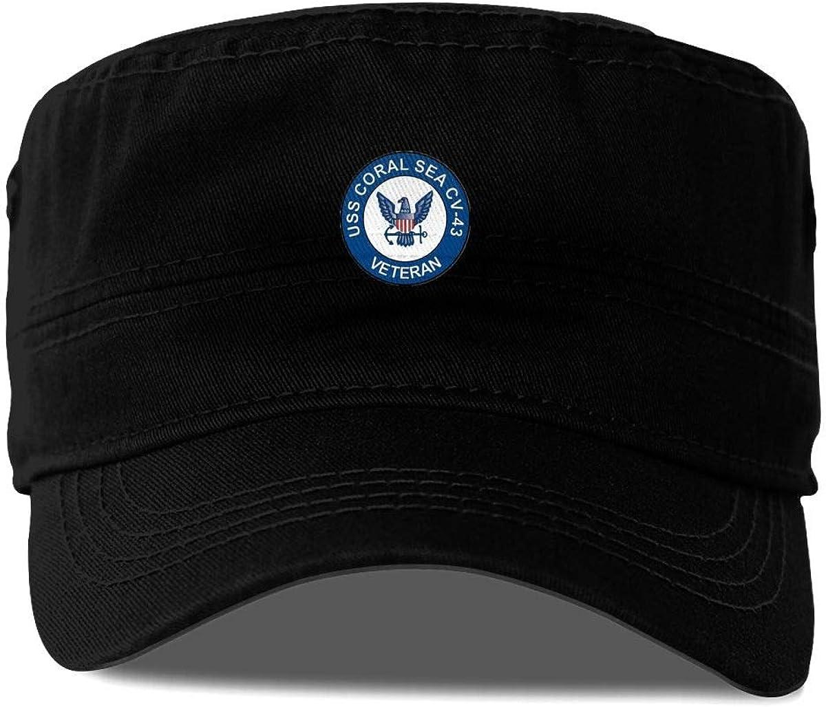 Kibio US Navy USS Coral Sea CV-43 Veteran Military Veteran Served Cap Baseball Hat Adjustable