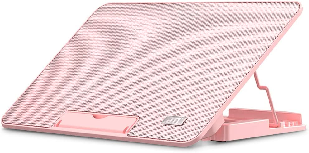 Laptop Cooler Cooling Pad for 12-17 inch Laptop Slim Portable USB Powered with 6 Quiet Fans and Rotary Switch Control, Pink