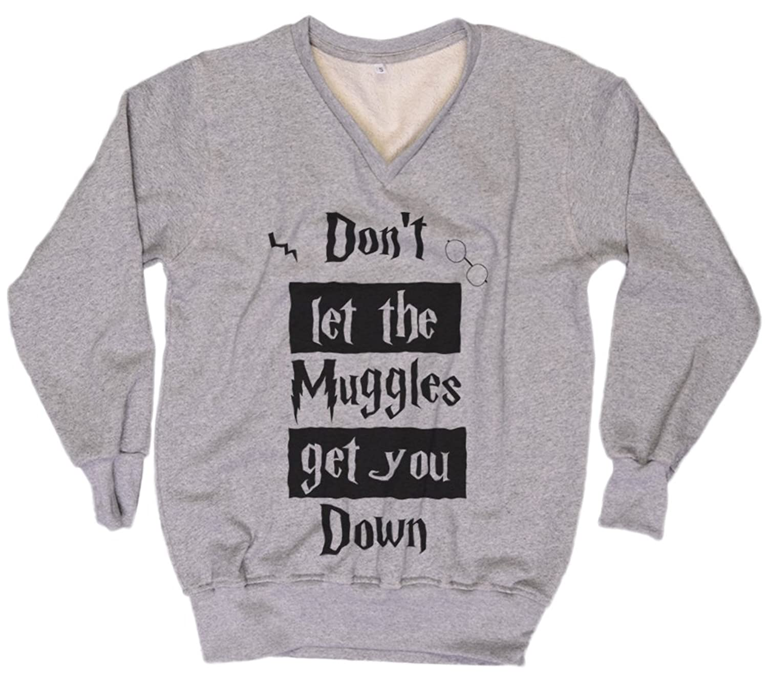 cheap Harry Potter Sweater Don't let the muggles get you down Sweater Everytees Sweatshirt Women Gift for Women