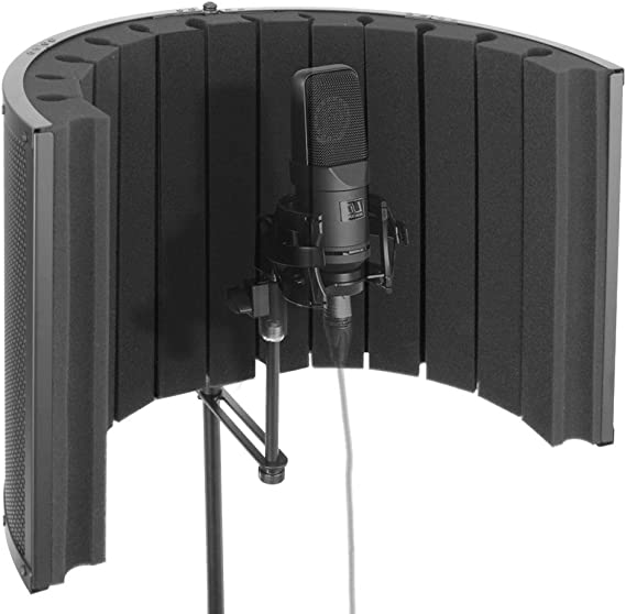 Pyle Mini Portable Vocal Recording Booth - Use with Standard Microphone