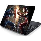 Creatick Studio Captain America Ironman Laptop Sticker (15X10.5 Inch)