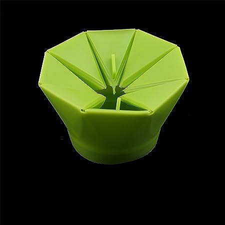 Lalang silicona bol de palomitas para microondas, plegable ...