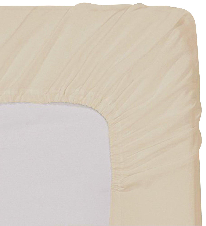 Utopia Bedding Fitted Sheet (Queen - Beige) -...