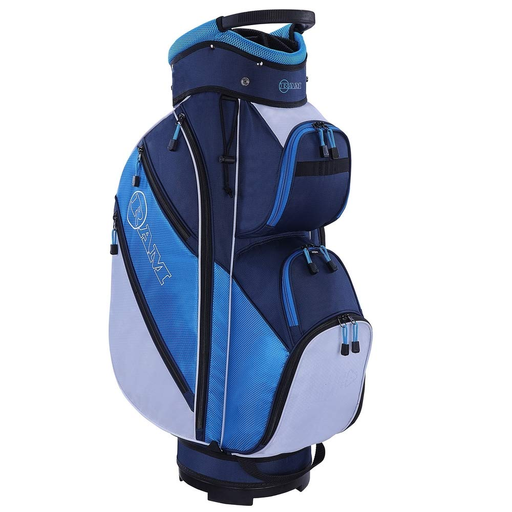 RAM Golf Lightweight Ladies Cart Bag with 14 Way Full Length Dividers Blue/White by RAM (Image #2)