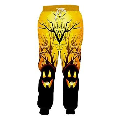 BFP-Tenos Pantalones Negros de Halloween para Hombres de Bosque ...