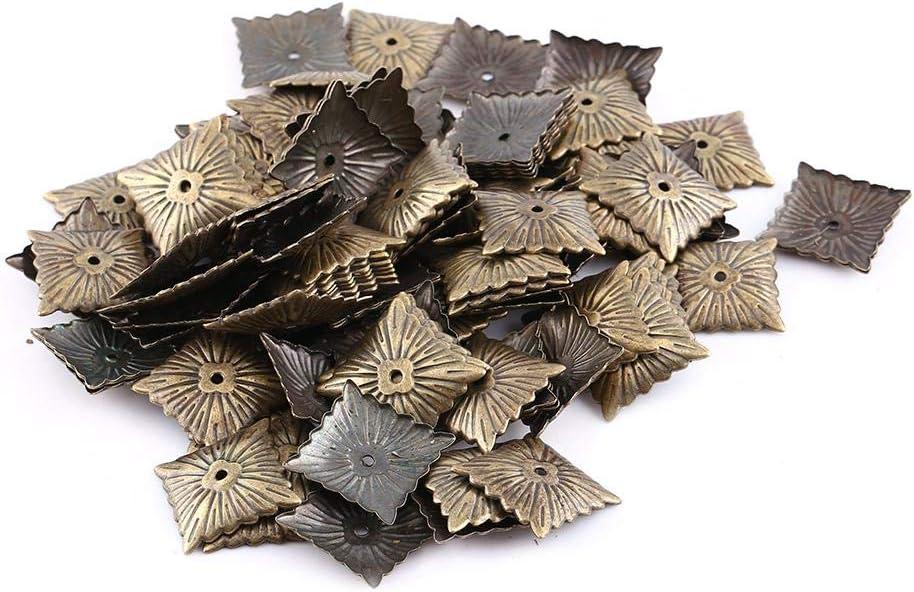 # 1 Wytino Clous de Tapisserie dameublement Clou d/écoratif de Goujon 100pc de cru de Clous en m/étal de Bronze d/étiquettes de Meubles Clou de Porte de Chaussure de Sofa