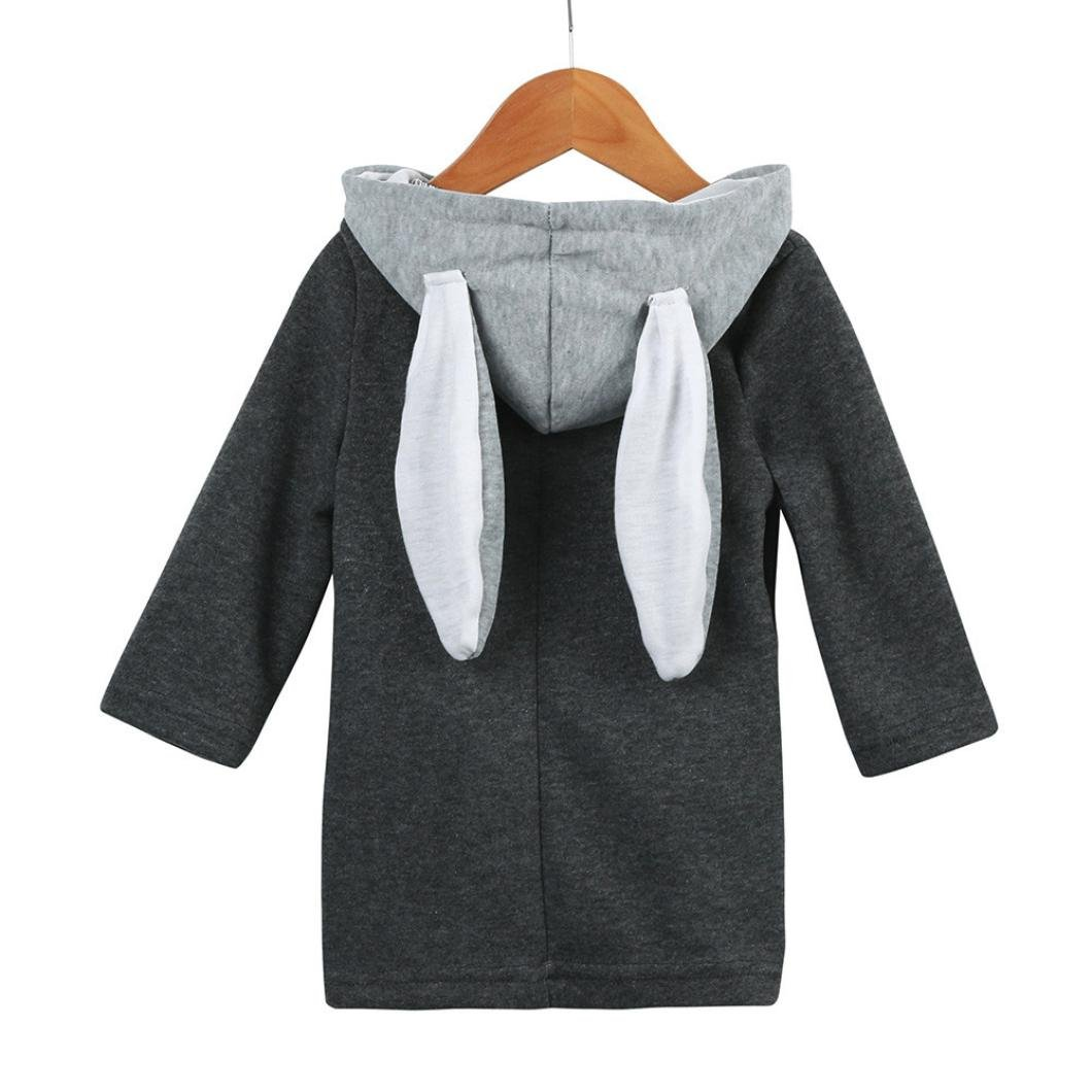 Staron Infant Baby Winter Warmer Hooded Coat Rabbit Ears Kids Jacket Thick Clothes