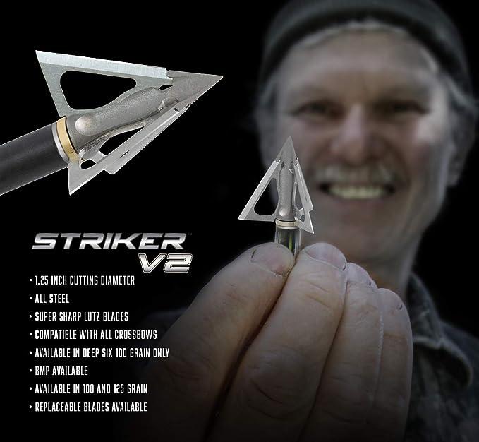 G5 Striker X 125 Grain Crossbow Broadhead 3 PK for sale online