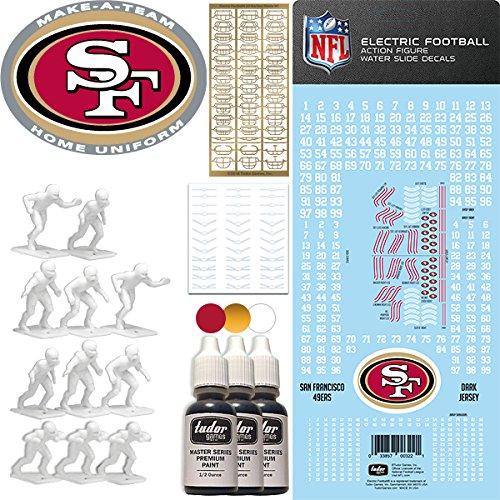 NFL San Francisco 49ers NFL Home Uniform Make-A-Team Kit for Electric Football