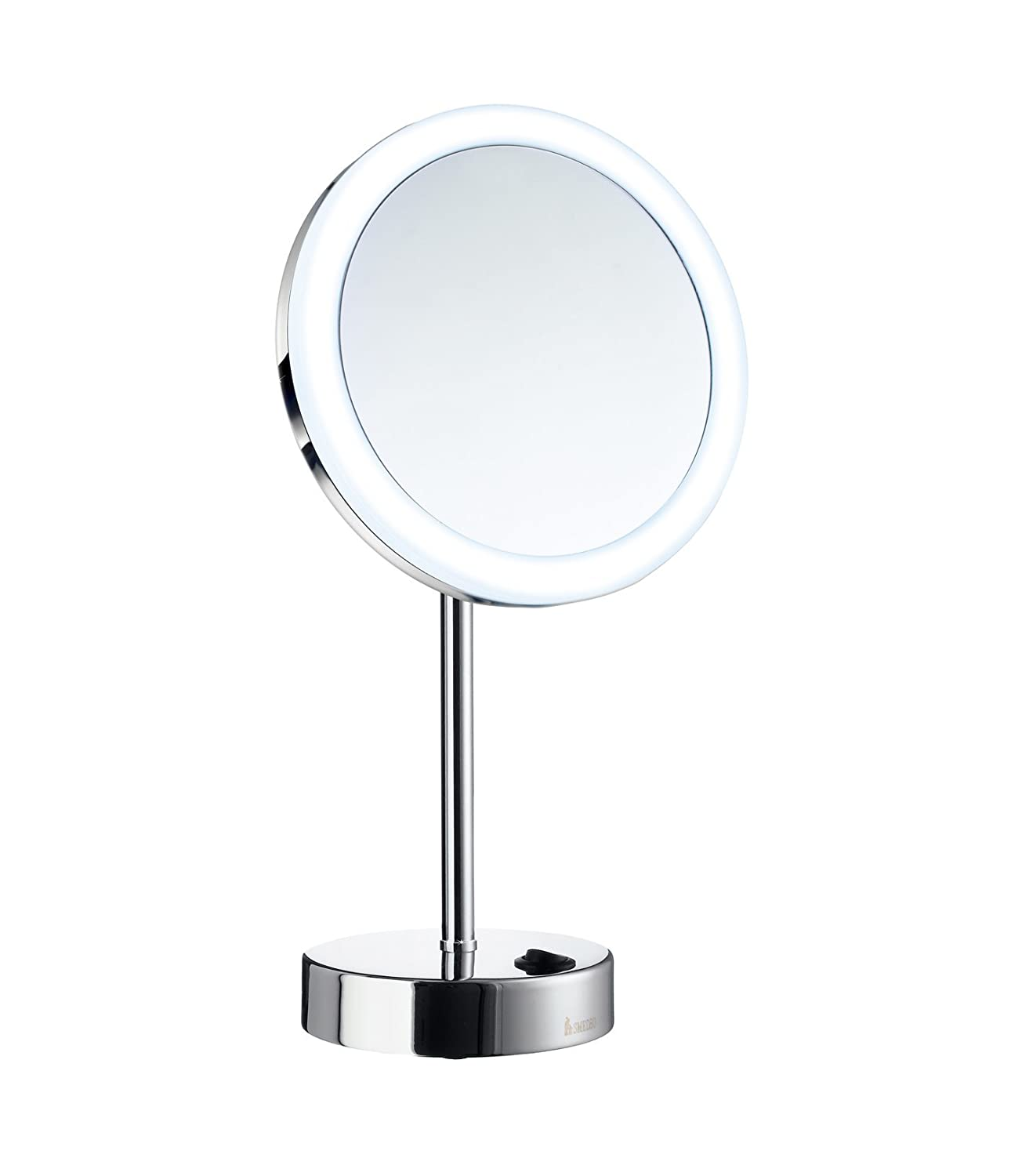 Smedbo Outline Shaving/Make-up Mirror LED Battery, Brass/Copper/Zinc Alloy, Polished Chrome FK484E