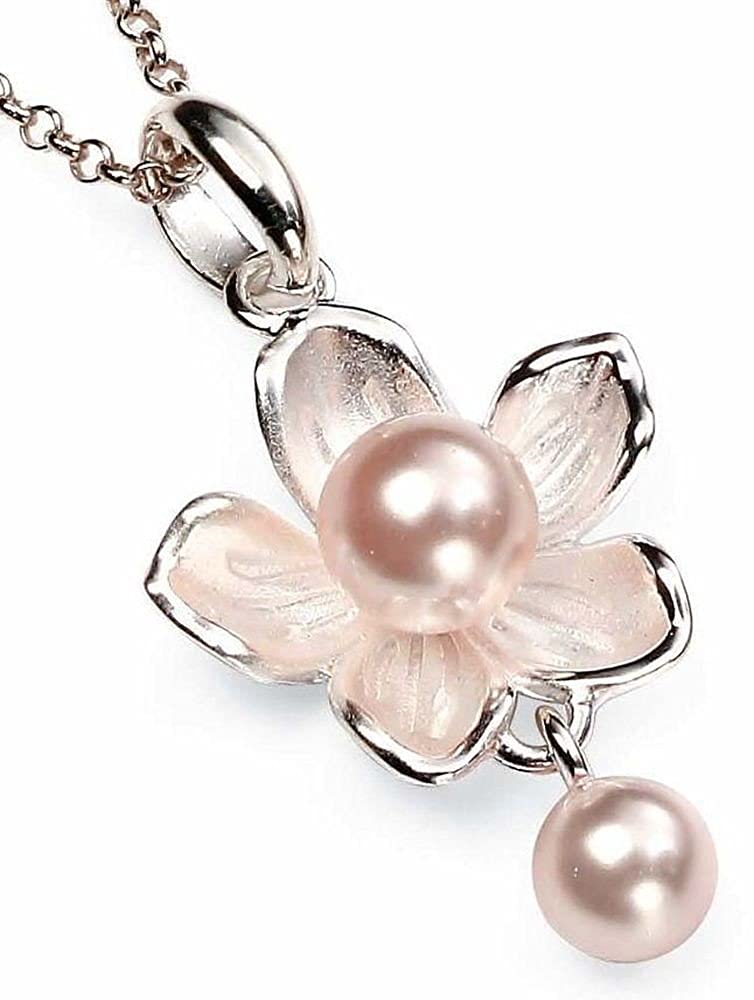 51 My-jewellery 925 silver Pearl flower necklace 20