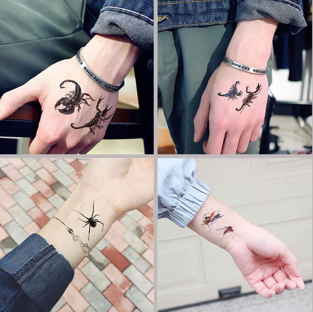 5Pcs 3D Spider Scorpion Pegatinas De Tatuaje Temporal Para ...