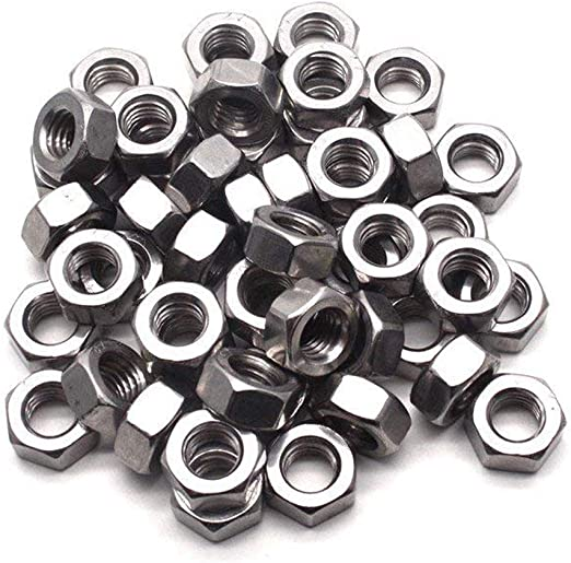A2 Acero Inoxidable-Cabeza Hexagonal Completo NUTS M3 M4 M5 M6 M8 M10 M12
