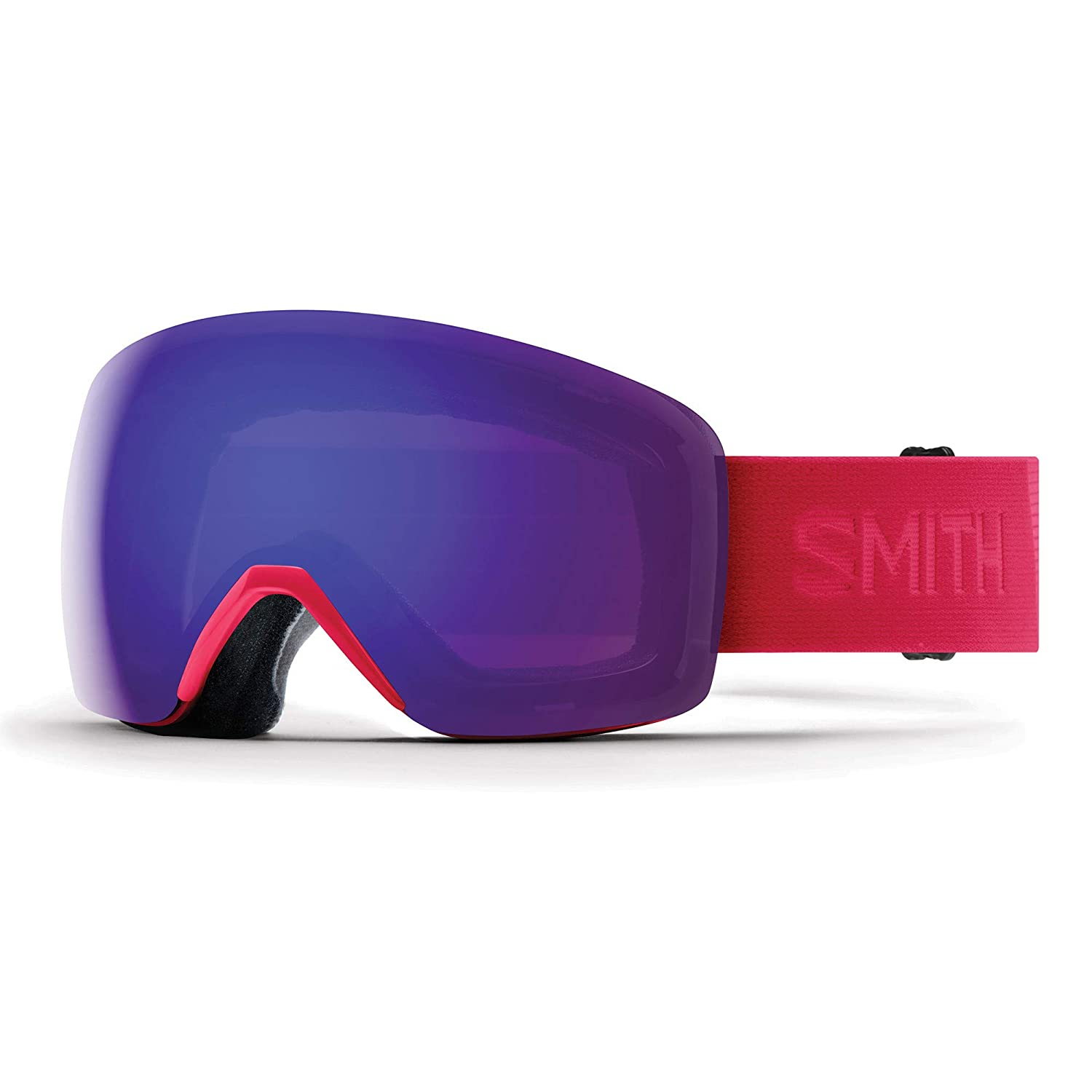 1aa644490595 Amazon.com   Smith Women s Skyline Snow Goggles B4BC Pink with Everyday  Violet Mirror Lens   Sports   Outdoors