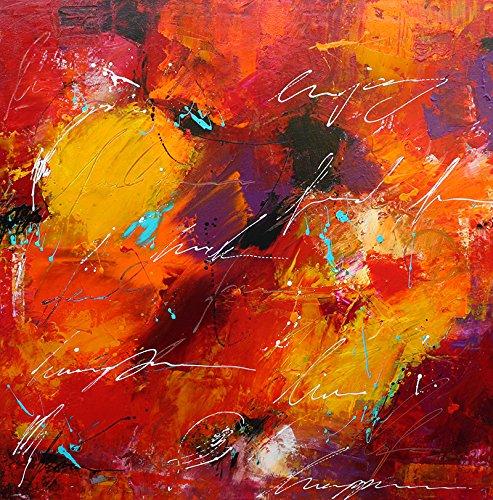 Bild abstrakt modern Malerei Kunst Original Acryl Gemälde 90x90 cm ...
