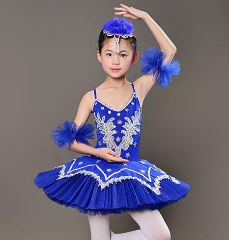 Traje de Ballet para Niños Arnés de Ballet Vestido de Bola Puff ...