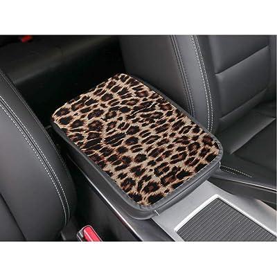 RANXIZY Neoprene Center Console Armrest Pad Cover Konsole Armour Universal Fit,Leopard: Automotive