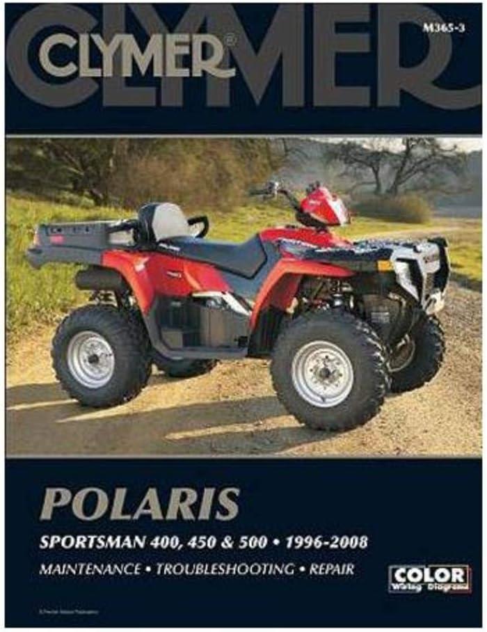 450 and 500 Sportsman 1996-2010 CLYMER Repair Manual for Polaris 400
