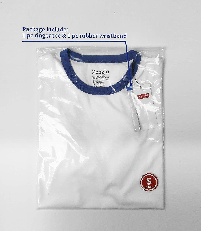 Mens Ringer Tee Crew Neck Athletic T Shirts Short Sleeve Sport Shirt for Men