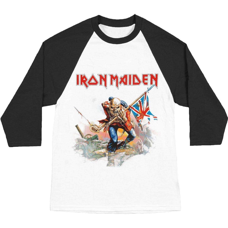 Iron MaidenメンズTrooper Baseball Jerseyホワイト B014RRY2YGM