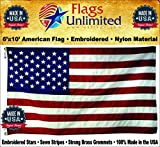 American Flag: 100% American Made – Embroidered Stars & Sewn Stripes – 6 x 10 ft From Flags Unlimited (6 by 10 Foot)