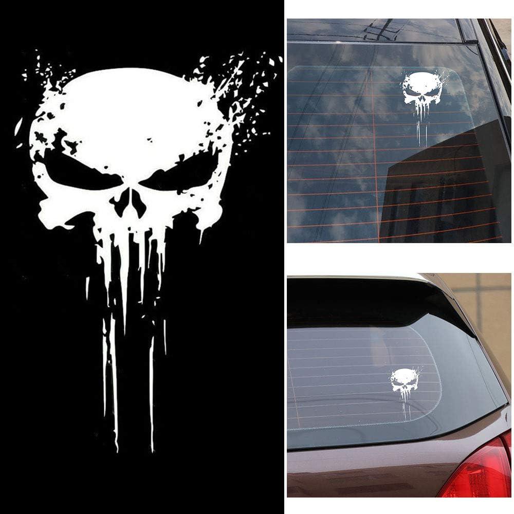Carrfan Punisher Skull Blood Vinyl Car Stickers Calcomanías Motos Decoración: Amazon.es: Coche y moto