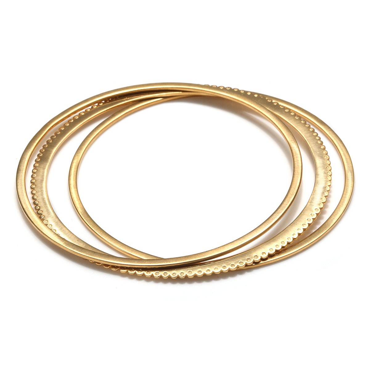 Satya Jewelry Womens Gold Bangle Bracelet Set, One Size BG4-SET