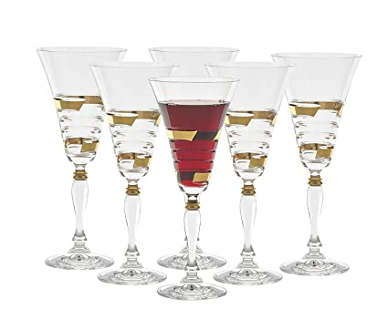 Amazon com | S APP-080-GL Set of 6 Luxurious Crystal Glasses
