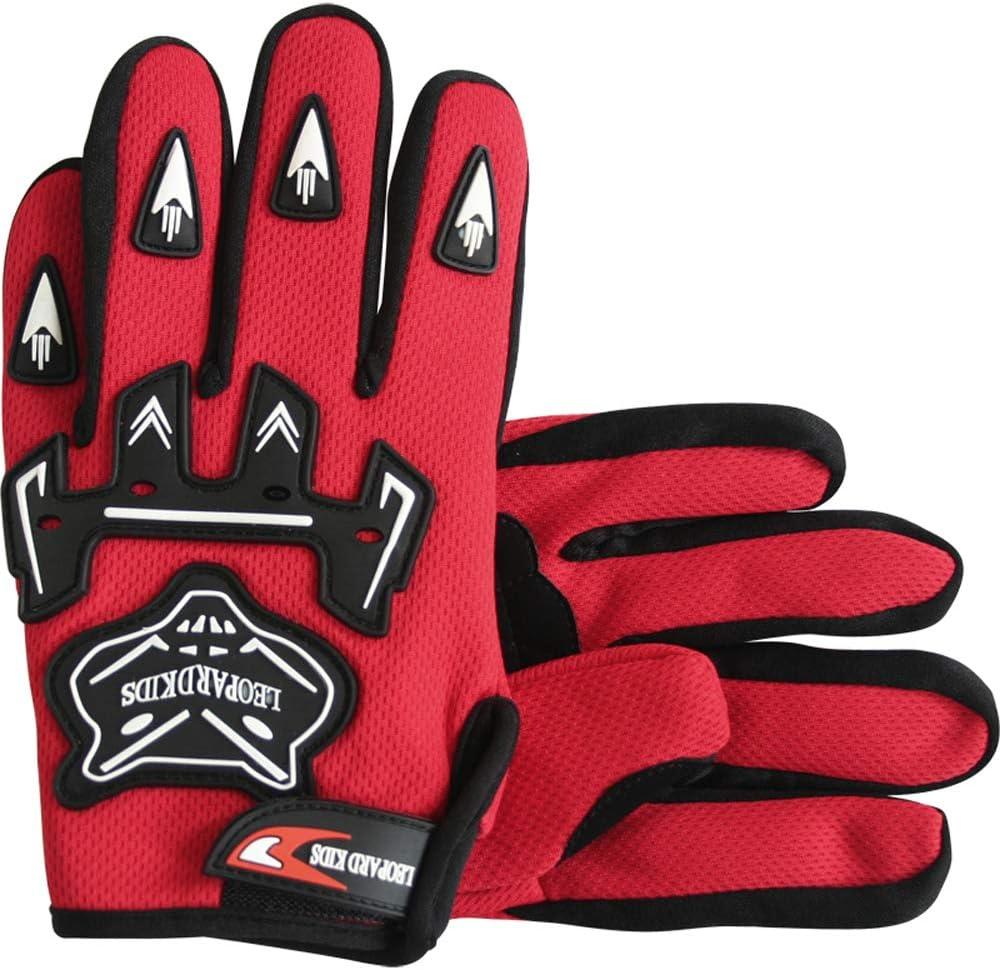 Blue L 53-54cm Leopard LEO-X19 PREDATOR Kids Motocross Motorbike MX Helmet /& Gloves