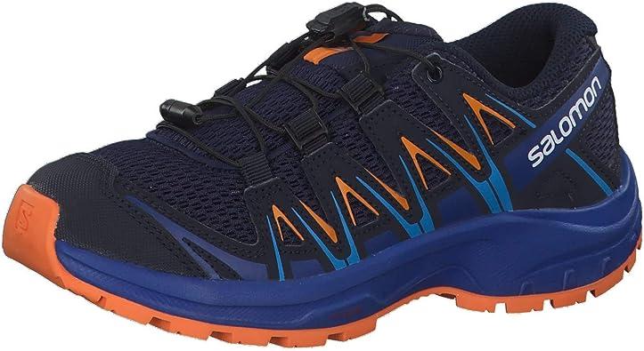 Salomon XA Pro 3D J, Zapatillas de Trail Running Unisex Adulto, Azul/Naranja (Medieval Blue/Mazarine Blue Wil/Tan), 32 EU: Amazon.es: Zapatos y complementos