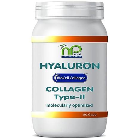 Biocell 60 Collagen II de ácido hialurónico - cápsulas fórmula altamente concentradas 1000 mg/día
