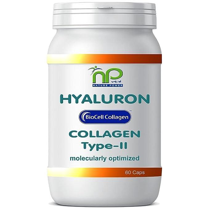 Biocell 60 Collagen II de ácido hialurónico - cápsulas fórmula altamente concentradas 1000 mg/día - articulaciones pelo piel (1x60): Amazon.es: Salud y ...