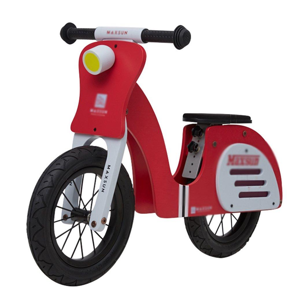 【翌日発送可能】 自転車 子供用のバランスバイク 調節可能なシートハンドル おもちゃギフト バランスペダルなし 木製バイク : 2-6歳に適しています (Color : B07GX35KNQ Size Red, Size : 81*36*56cm) 81*36*56cm Red B07GX35KNQ, 北相馬郡:d446caf5 --- martinemoeykens.com