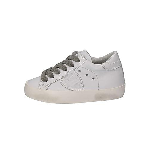 PHILIPPE MODEL Scarpe Sneakers Paris L Junior Veau Bambini Ragazzi Bianco  CLL0-V  Amazon.it  Scarpe e borse 571a96bc34e
