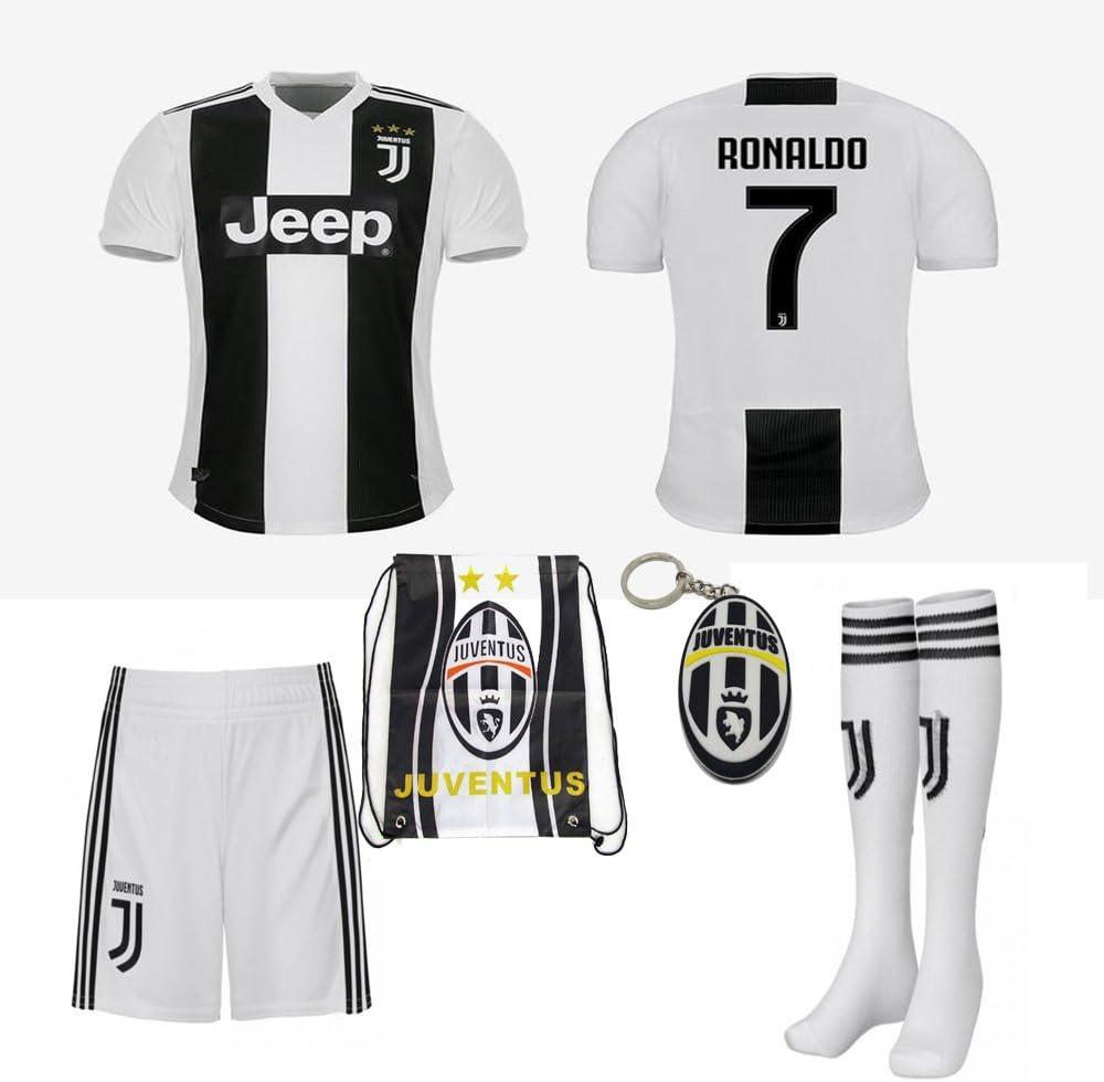 Desconocido Juventus Serie A 2018 19 Ronaldo Dybala - Kit de Camisa, Camisa, Calcetines, Bolsa de fútbol y Llave de PVC, Size 18 (2-3 Yrs Old Approx.), Azul: Amazon.es: Deportes y aire libre