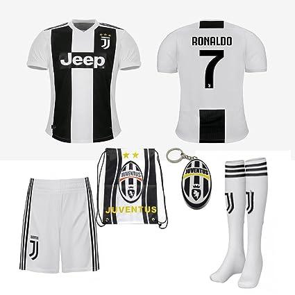 d796863ee Amazon.com   Juventus Serie A 2018 19 Ronaldo Dybala Replica Jersey ...