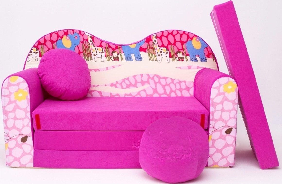 H16 sofá infantil con diseño de reclinable hasta posición de sofá cama café Mini café 3-in-1 conjunto deportivo para bebé + sillón infantil con diseño de y cojín del asiento + colchón barabike SOF016