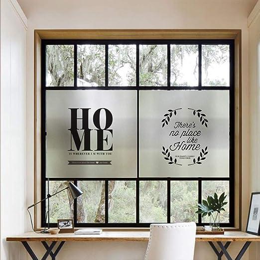 libby-nice Inglés Decorativo Puerta De Vidrio Estático Sin Pegamento Pegamento Juego De Baño Oficina Hotel Partición Puerta Etiqueta Engomada 45x60cm B: Amazon.es: Hogar