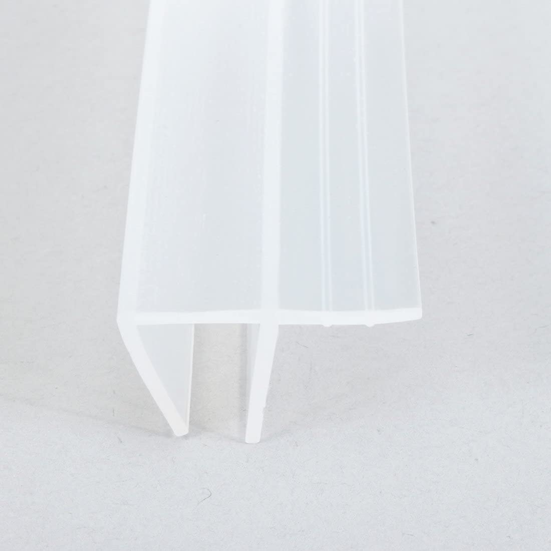 Glass sourcingmap 78.7-inch F Shaped Frameless Window Shower Door Seal Clear for 10mm Approx 3//8-inch