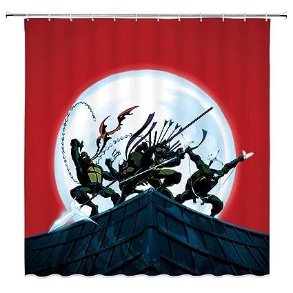 Amazon.com: Teenage Mutant Ninja Turtle Shower Curtain ...