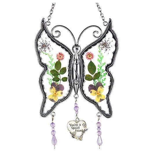 Bearbelly Carillones de Viento de Cristal de la Mariposa ...