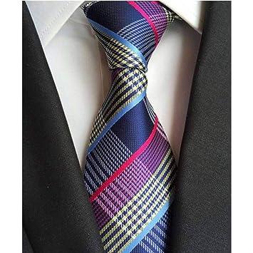 WOXHY Corbata Seda clásica Corbatas para Hombre Corbatas 8 cm ...