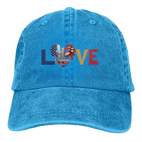 I Love New YorkVintageDenim Cap Adult Unisex Adjustable Cap by LETI LISW