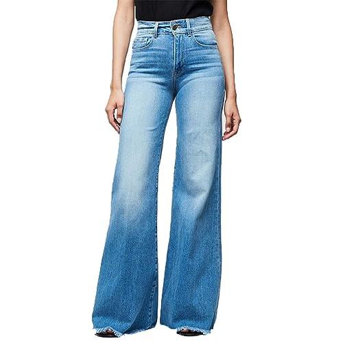 caba7b332147 Donna Pantaloni Larghi Estivi di Vita Alta con Cintura, UOMOGO® Pantaloni  Eleganti a Pantaloni Donna Primavera Estate: Amazon.it: Abbigliamento