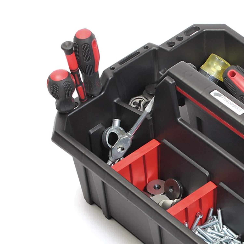 Prosperplast Cargo Plus Werkzeugtr/äger Werkzeughalter Werkzeugkasten 39,5 x 29,5 x 19cm