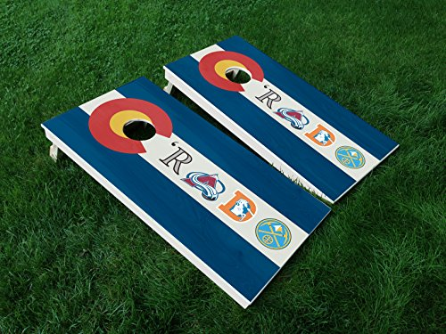 DISTRESSED Colorado 10 Colorado State FLAG CORNHOLE WRAP SET Vinyl Board DECAL Baggo Bag Toss Boards MADE IN the USA by IAWOAVinyl